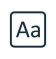 Typography icon rounded squares button vector