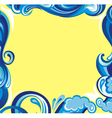 Abstract water frame vector