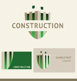 Logo business card and cover for construction vector