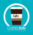 Coffee design over blue background vector