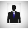 Profile picture whith blue tie unknown person vector