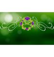 A green and violet border design vector