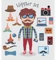Hipster boy set vector