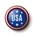 Usa round icon vector