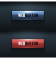 Set of two glossy buttons vector