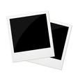 Two polaroid photos vector