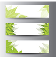 Leaf banners vector
