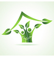 Eco family icon make home vector