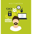Multimedia design vector