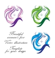 Womans face  template for your design vector
