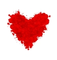 Hand-drawn painted red heart element for your vector