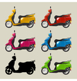 Retro scooters vector