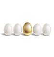 Gold egg concept white and unique golden eggs vector
