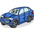 Suv car character cartoon vector