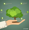 Hand holding tree vector