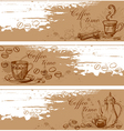 Cofee banners vector