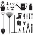 Garden equipment set vector