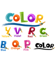 Alphabet color vector