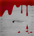 Happy halloween blood dripping on wood wall vector