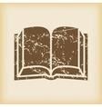 Grungy book icon vector