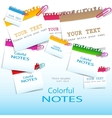 Colorful paper notes with place for text vector