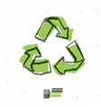 Reuse symbol white paper vector