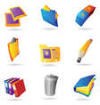 Icons for office vector