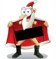 Crazy santa - cartoon vector