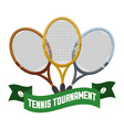 Tennis tournament vector