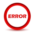 Red error icon vector