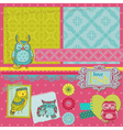 Scrapbook design elements - little owls vector