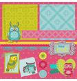 Scrapbook design elements - little owls vector
