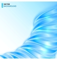 Blue shining wave abstract background vector