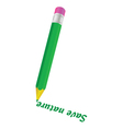 Green pencil and save nature word vector
