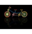 Tandem bicycle vector