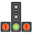 Traffic lights for pedestrians vector