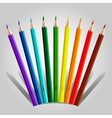 Varicolored pencil set vector