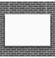 Banner on brick wall vector