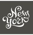 New york hand lettering vector