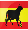 Bull spanish soccer vector