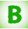 Grass letter b vector