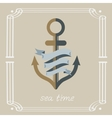 Anchor and ribbon vector