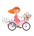 Summer little girl vector
