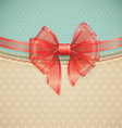 Red transparent bow vector