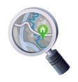 Magnifying glass with map concept vector