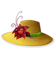 A fashionable hat with a plant vector