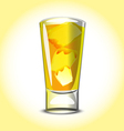 Yellow cocktail vector