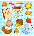 Happy cartoon foods vector