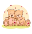 Teddy bear love vector