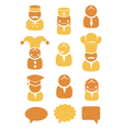 People occupation icons set vector